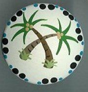 Handpainted Swaying Palm Trees Artisan Pull Knobs