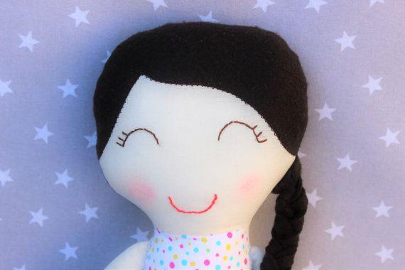 Muñeca Sofía, niña, bebé, regalo, personalizado, muñeca de trapo, algodón