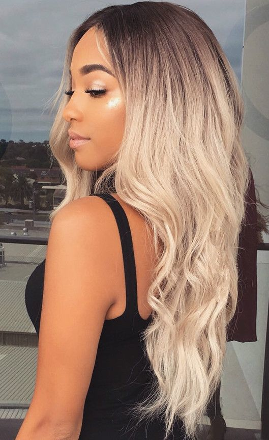 Wavy long blonde hairstyles wigs for black women human hair wigs lace front  wigs african american women wigs black girl natural hair styles b0323480a