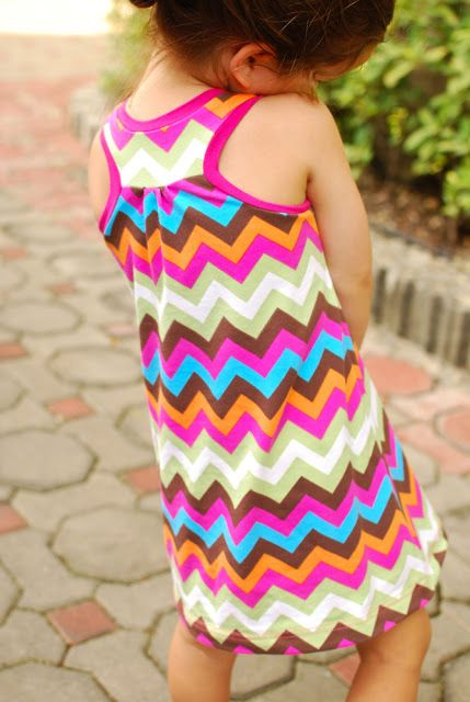 This is such a cute pattern. Free printable pattern with a tutorial included! Lengthen to make a long maxi or short to make a shirt. Racerback Dress: A Tutorial PDF Pattern