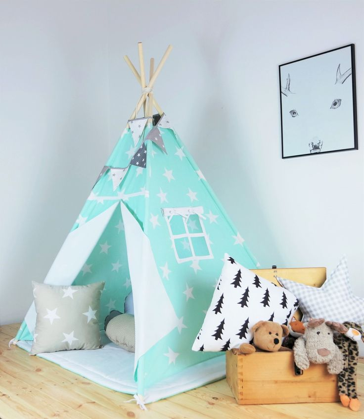 Children's teepee, playtent, tipi, zelt, wigwam, kids teepee, tent, play teepee, high quality wigwam with mat by Minukids on Etsy