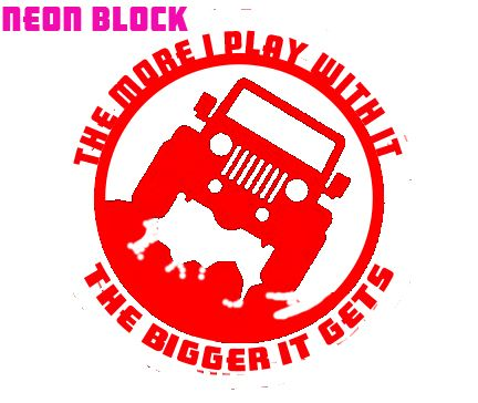 Custom jeep outdoor window decal sticker the more i play with it the bigger it gets rock crawling vinyl decal easy to clean and apply comes re