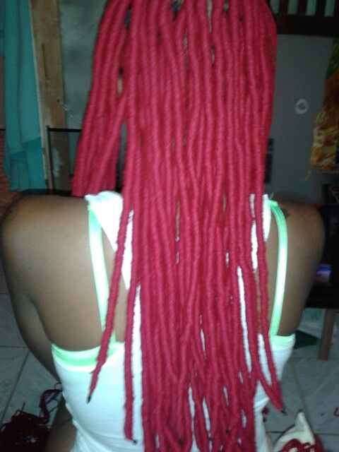 Red Faux Locs Loc Extensions Done By Brittany In East