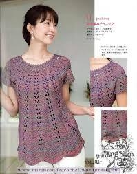 Resultado de imagen para como hacer blusas tejidas