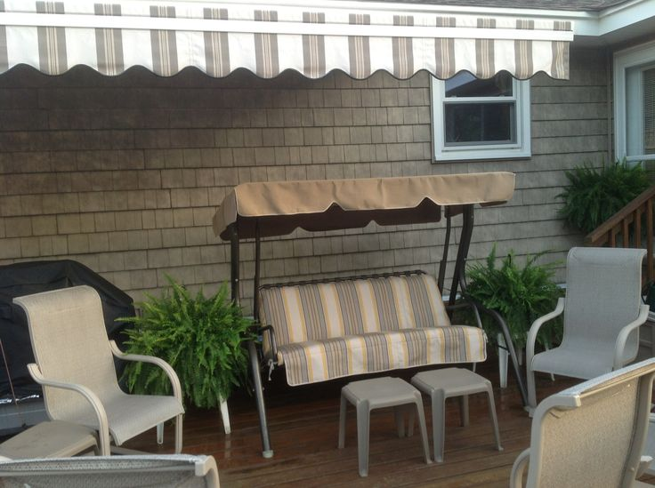 Replacement Canopy And Cushion Cover For Patio Swing   Sunbrella Fabric  Comes With A 10 Year
