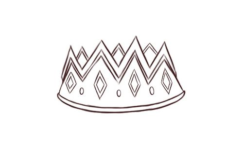 how to draw a realistic tiara