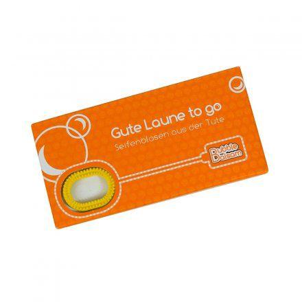 Seifenblasen Gute Laune to go von Liebeskummerpillen jetzt im design3000.de Shop kaufen! Ihnen hat es die Laune verhagelt? Lassen Sie sich nicht...