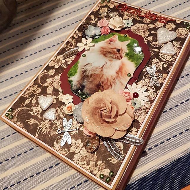#scrapbooking #book #card #handmade #papercraft  #cat #birthdaycard #birthday