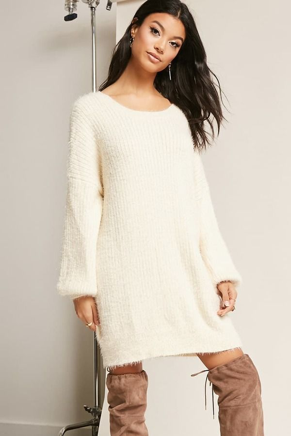 0573dc08a0f FOREVER 21 Fuzzy Knit Dress