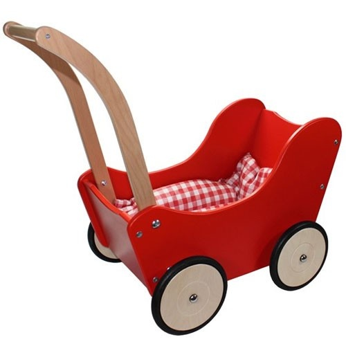 poppenwagen rood   new classic toys