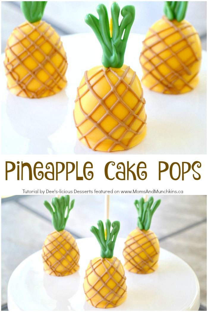 An adorable Pineapple Cake Pops tutorial that's perfect for a Hawaiian luau or BBQ party!