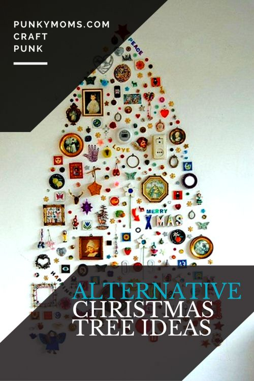 Don't want to get a real tree this year? Here are 10 alternative christmas tree ideas you can put together with items you probably already have at home.