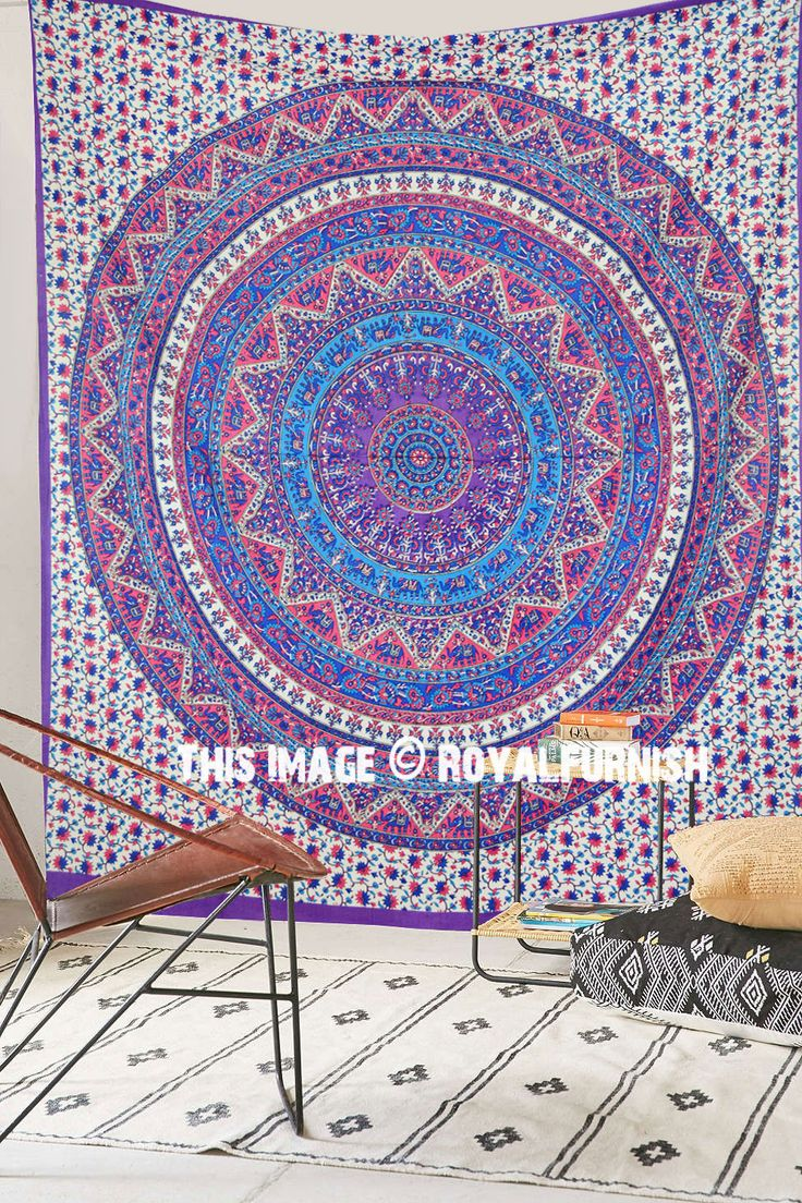 Buy pink purple kerala mandala bohemian psychedelic tapestry wall hanging bed cover at Royal Furnish at best price. Indian Tapestries are available into different designs, colors & styles. Shipping worldwide USA, UK, Canada, Australia & Europe.