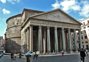 Pantheon, Rome It is the best-preserved of all Roman buildings and the oldest important building in the world with its original roof intact. It has been in continuous use throughout its history.