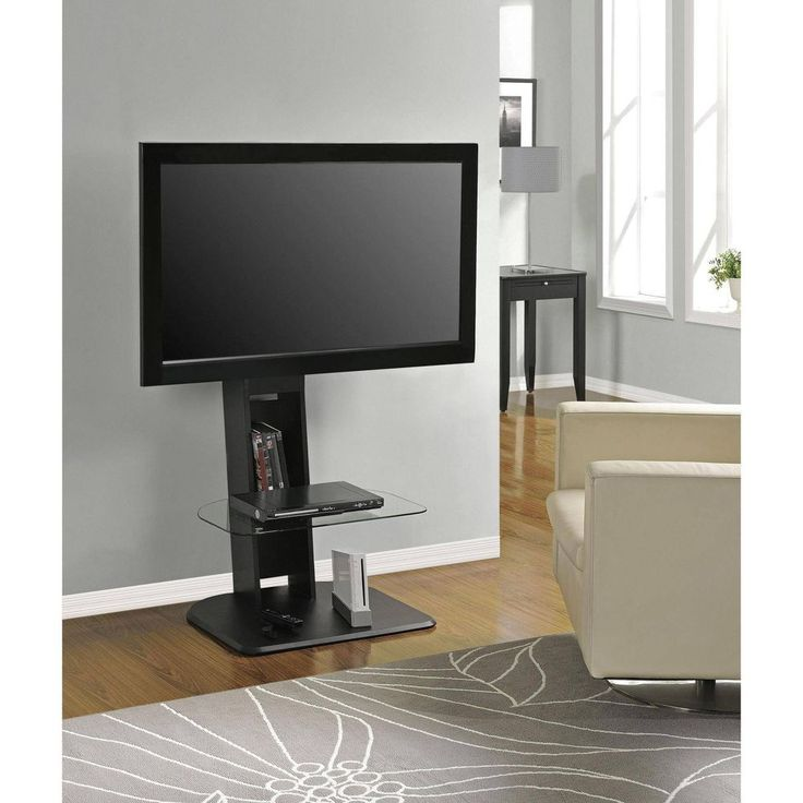 Dorm TV Stand W/ Mount Furniture Living Room Small Spaces College Storage  Shelf