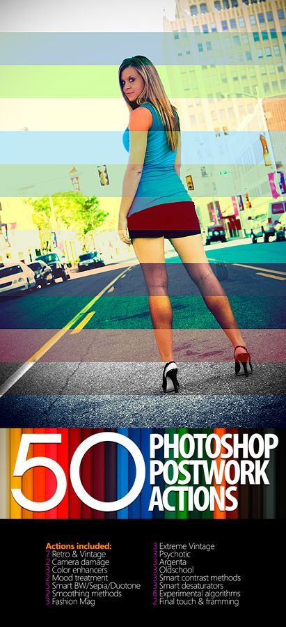 10 Great Photoshop Actions Packs - free download.