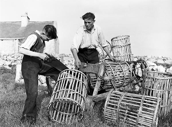 Making Lobster Pots In Connemara 1959 | Connemara, Photo archive and Ireland