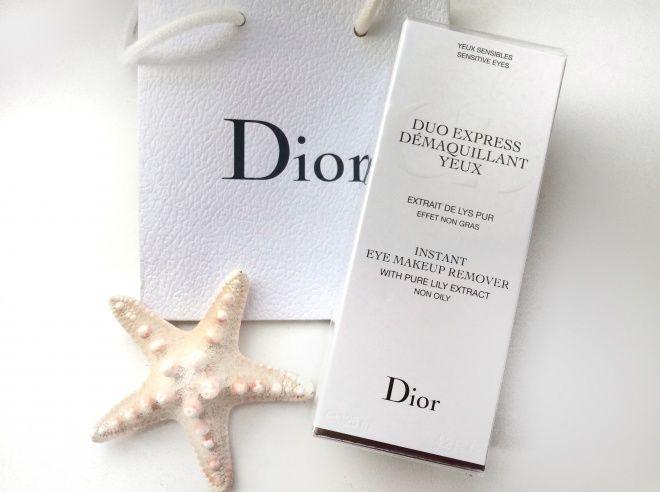 Двухфазное средство для мгновенного снятия макияжа с глаз с экстрактом чистой лилии Dior Duo Express Demaquillant Yeux Instant Eye Makeup Remover