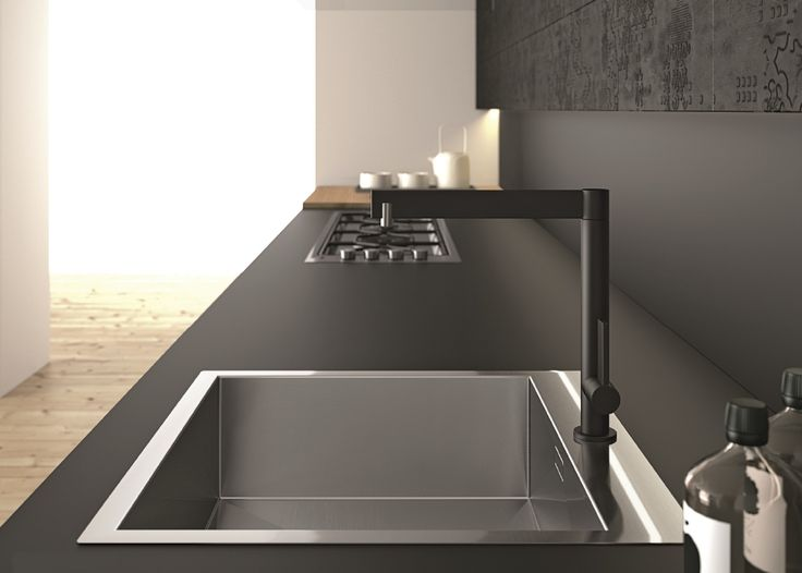 Arpa loves details. Kitchen top made of FENIX NTM. Aspen kitchen by Doimo Cucine.