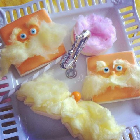 Lorax cookies by Sweetopia