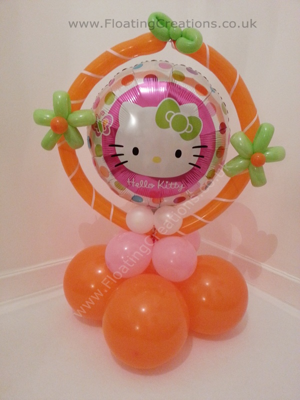 Hello Kitty Balloon Table Display. https://www.facebook.com/balloonsglasgow