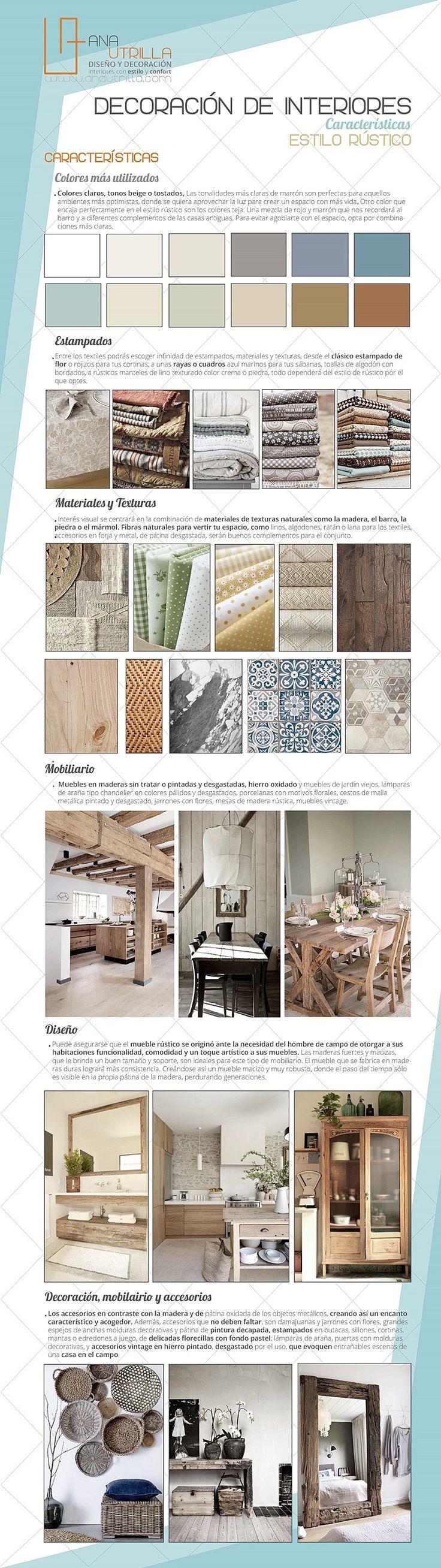 Características principales del estilo rústico en decoración de interiores por Ana Utrilla Diseño de Interiores online