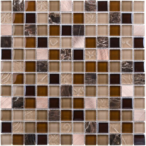 Glass Mosaic Tile Copper Blend For Kitchen Backsplash Bathroom And Feature Wall Tuscankitchens Stone Mosaic Tile Mosaic Wall Tiles Marble Wall Tiles