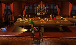 luigi's mansion GLOOMY MANOR dining room - Google Search