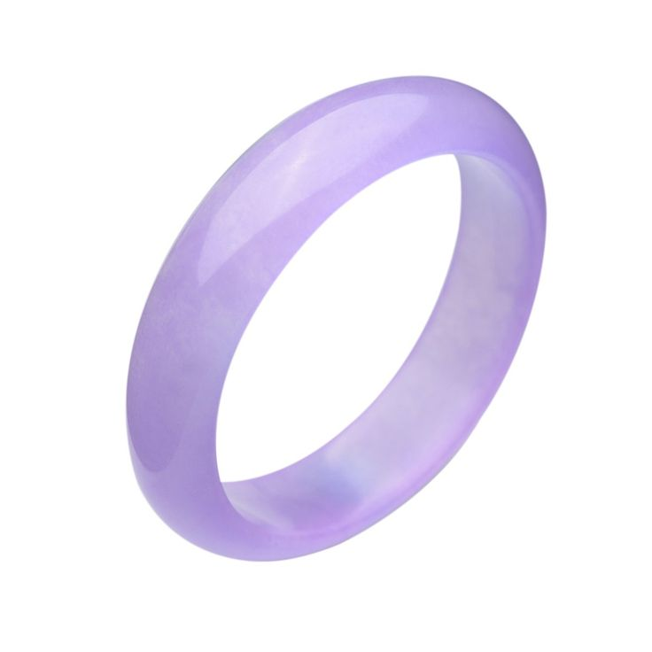 Parma77 Beautiful Queen Violet Jade Bangle Jadetie Bracelet Lavender Size 56mm-62mm (Large):