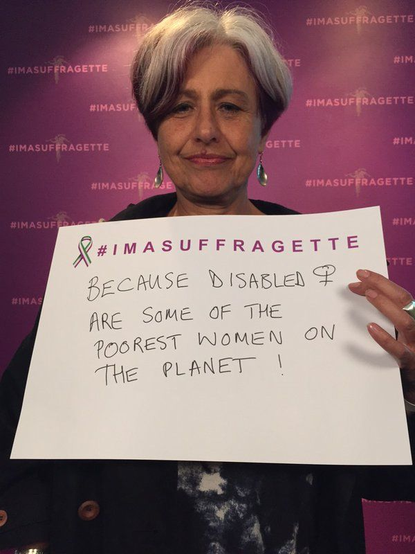 #imasuffragette because disabled women are some of the poorest women on the planet #inspiringwomen #Suffragette https://t.co/Qi9TLewRTD
