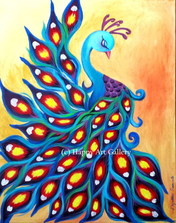 Simple peacock painting