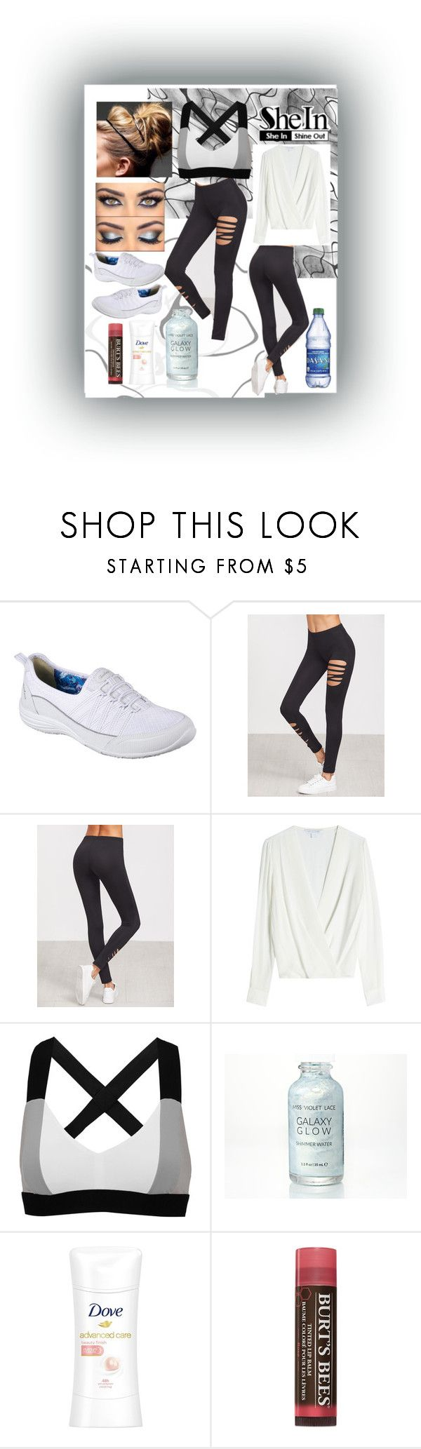 """""""Work It!"""" by snowflakeunique ❤ liked on Polyvore featuring Skechers, Diane Von Furstenberg, No Ka'Oi, Burt's Bees, Sheinside, contestentry and shein"""