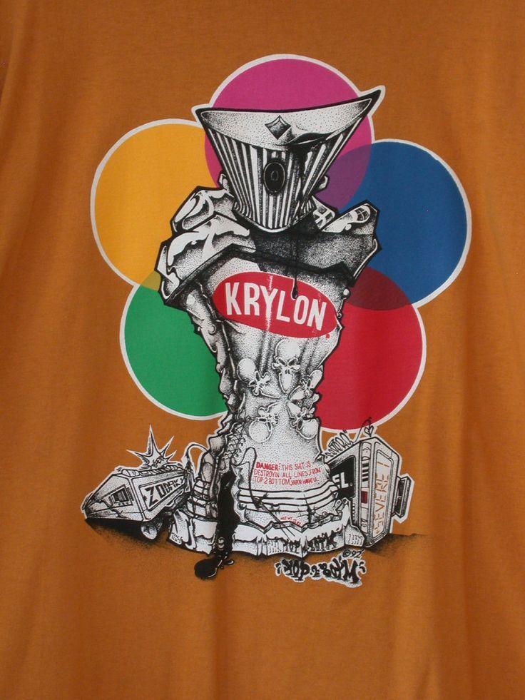 1992 Top 2 Botm Rare Krylon Graffiti Zodak Shirt Xl Tribal