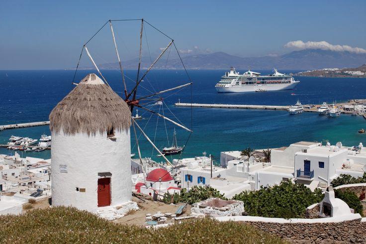 Moulin de Mykonos. #croisière #croisierenet.com #Mykonos #Ilesgrecques #voyage #croisièreméditerannée