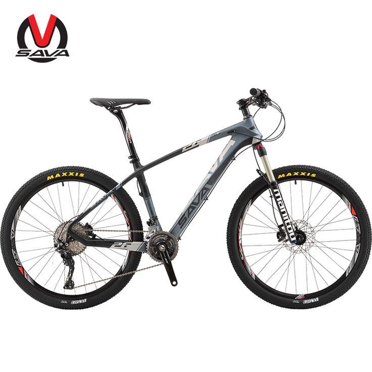 1349.10$  Buy now - http://ali0de.worldwells.pw/go.php?t=32745912264 - SAVA 30 Speed Men Women Mountain Bike 26 Inch Carbon Fiber MTB Bicycle Professional Bicicleta M8000 Derailleur with Disc Brake 1349.10$
