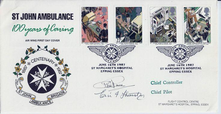 G.B. Commemorative 1987 St.John's Ambulance FDC