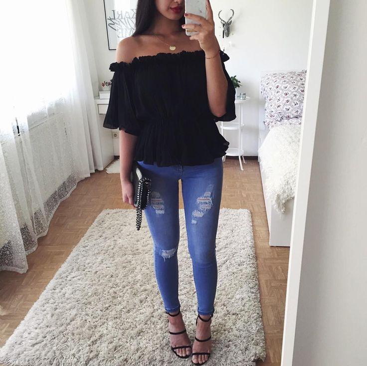 "14.3k Likes, 75 Comments - Thanya W. (@thanyaw) on Instagram: "" Top: Italy Bag: @seamlessfashion Jeans: @dollygirlfashion Heels: @ikrushcom (use THANYAW10…"""