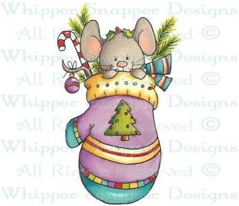 Mitten Mouse - Christmas Images - Christmas - Rubber Stamps - Shop