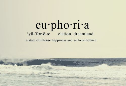This one word means a lot to me :) the emotion that I strive to feel.