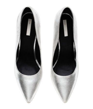 Lederpumps | Silberfarben | Damen | H&M DE