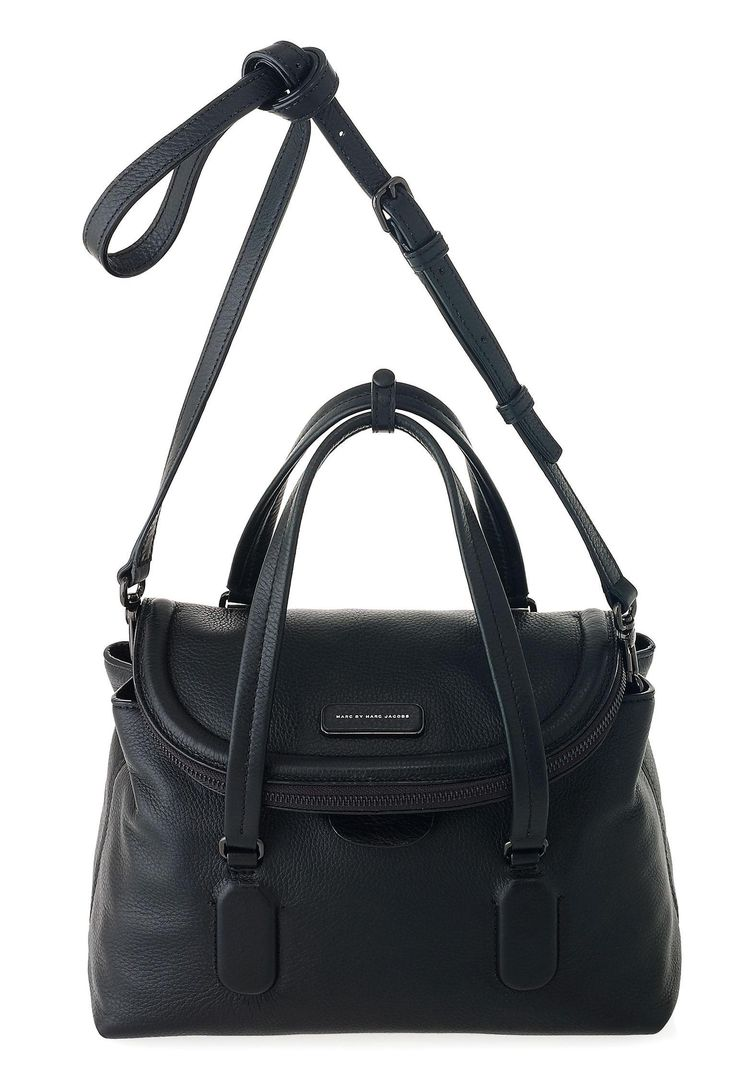 Marc By Jacobs Silicone Valley Satchel In Black Handbagmarc