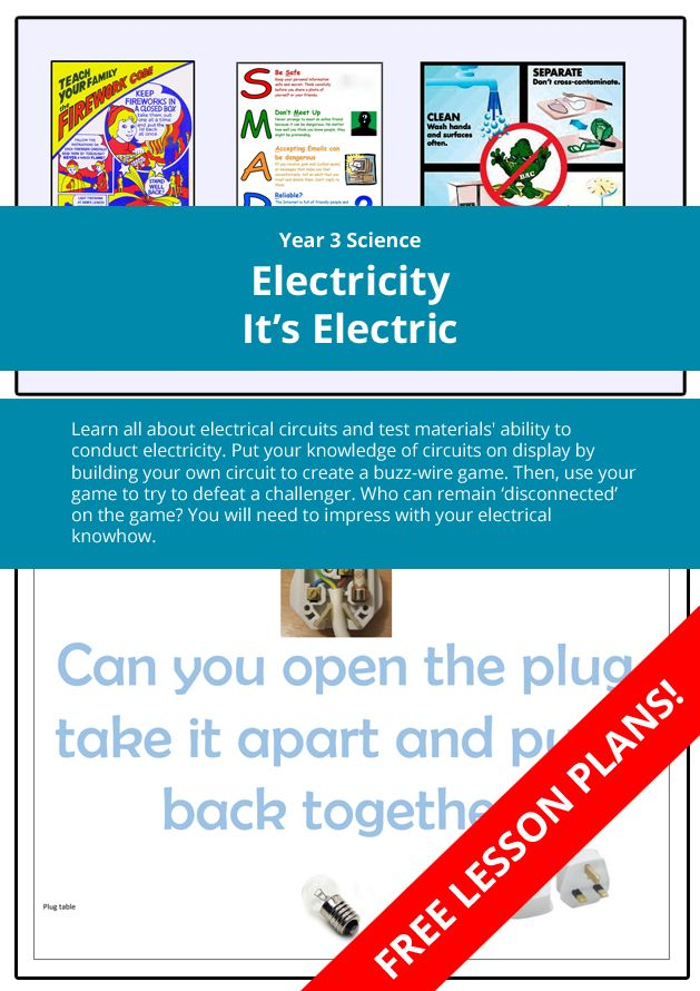 year 4 science electricity it s electric learn all about rh in pinterest com Wall Plug Wiring 3 Prong Plug Wiring Diagram