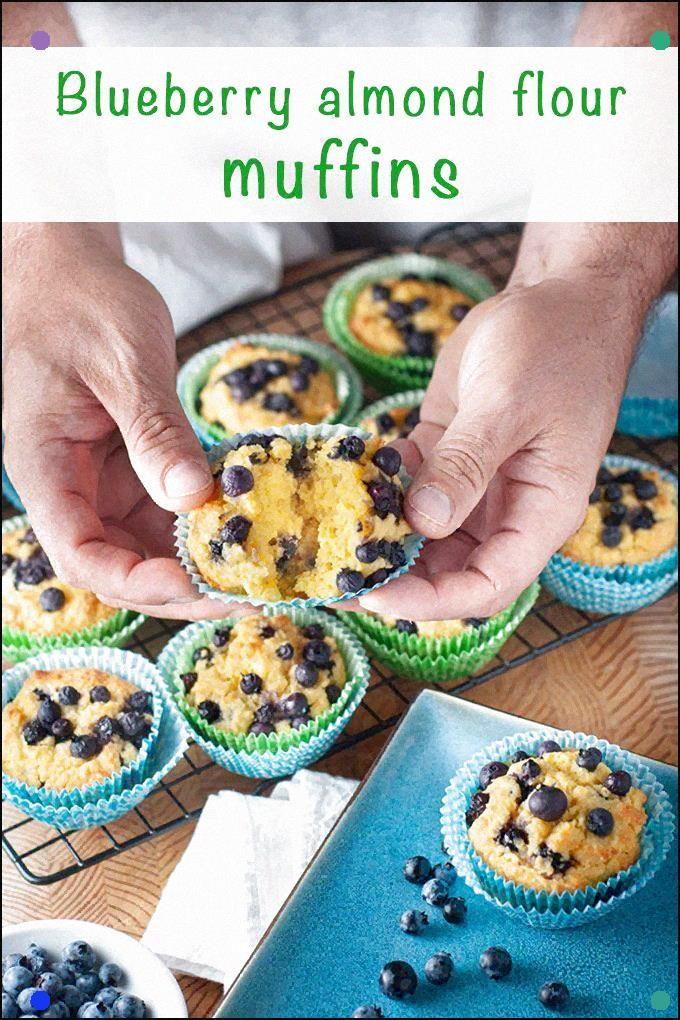 Heidelbeer-Mandelmehl-Muffins Obwohl diese süßen Leckereien gesund sind, …