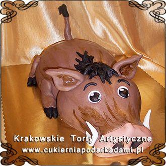 114. Tort guziec Pumba z bajki Król Lew. Cake with warthog from The Lion King.