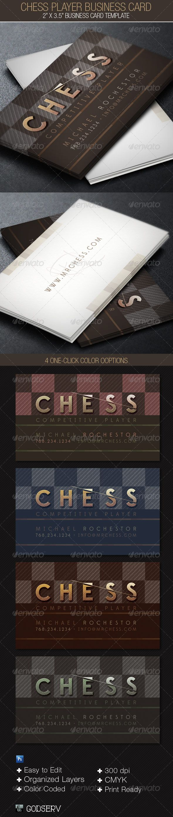 Chess Player Business Card Template - $6.00