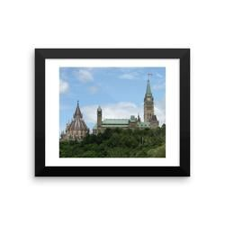 Framed photo paper poster: Parliament Buildings, Ottawa