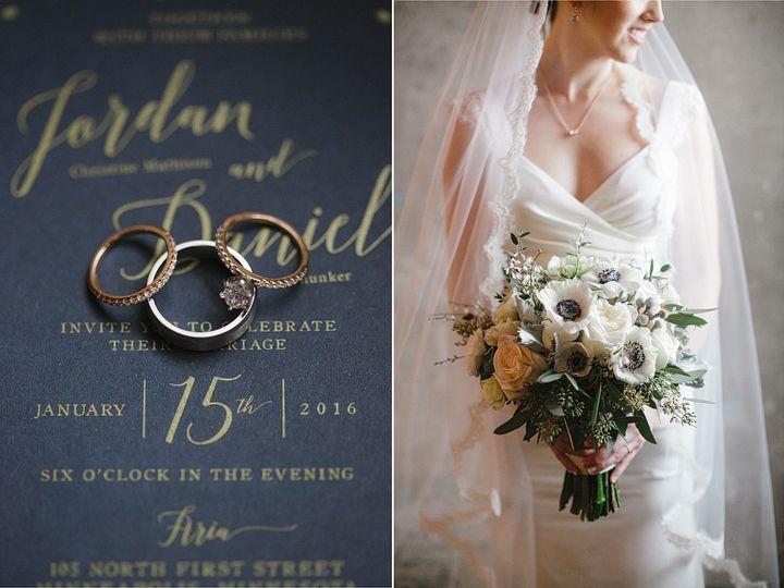 Gold and Navy Wedding Invitation