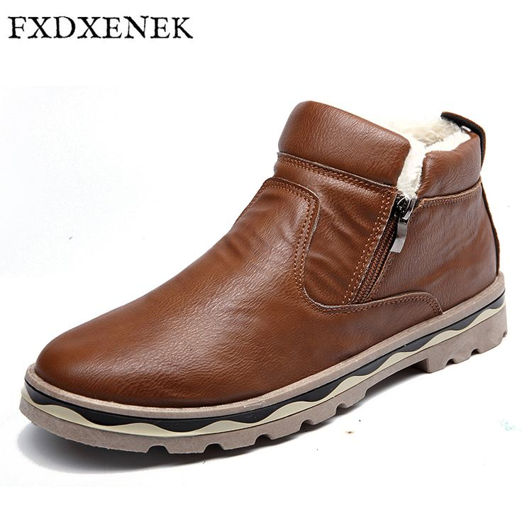 FXDXENEK Men's Boots High Quality Waterproof Footwear Autumn Winter Keep Warm Plush&Fur Ankle Boots Fashion Pu Leather Men Shoes #Men's footwear http://www.ku-ki-shop.com/shop/mens-footwear/fxdxenek-men-s-boots-high-quality-waterproof-footwear-autumn-winter-keep-warm-plush-fur-ankle-boots-fashion-pu-leather-men-shoes/