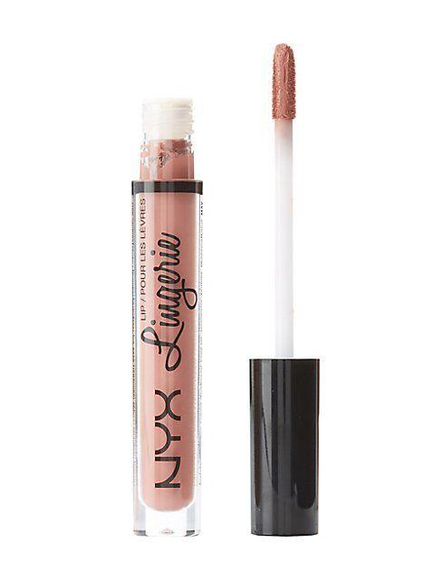 """""""Bedtime Flirt"""" NYX Lip Lingerie Lipstick - THE BEST lipstick I've ever owned. Flattering color, long lasting."""