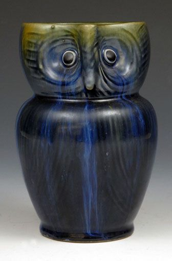Denby Pottery, Electric Blue Owl Jug, c.1925.